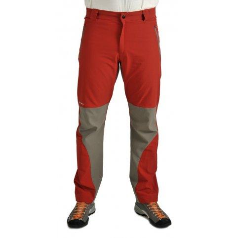 Pánske nohavice SALATÍN, červeno-sivé