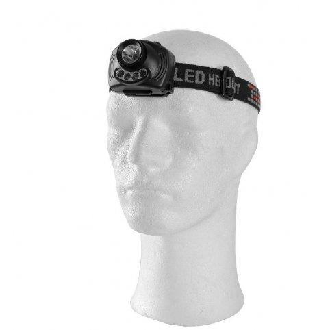Čelovka 3W USA CREE XPE LED so senzorom, čierna