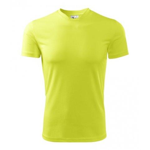 Pánske tričko s krátkym rukávom FANTASY, neónovo-žlté