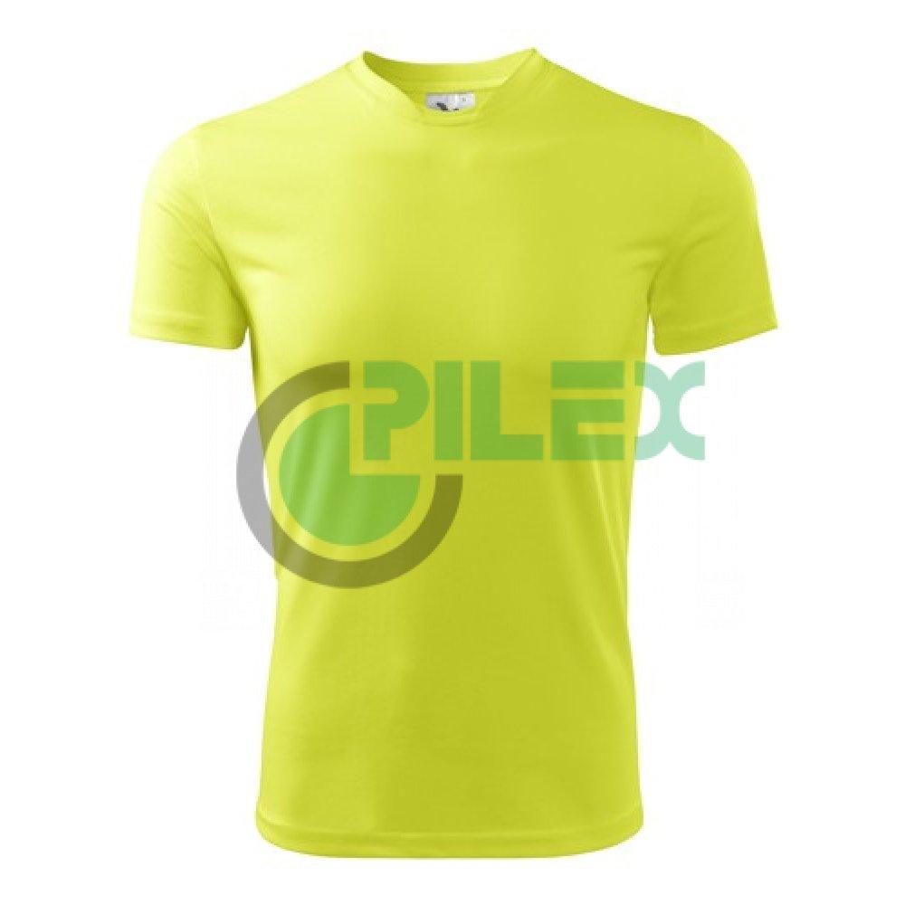 29b6fd5423778 Pánske tričko s krátkym rukávom FANTASY, neónovo-žlté