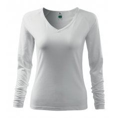 Dámske tričko s dlhým rukávom ELEGANCE, biele