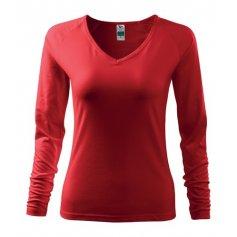 Dámake tričko s dlhým rukávom ELEGANCE, červené