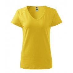 Dámske tričko s krátkym rukávom DREAM, žlté