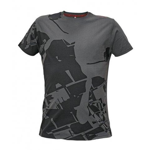 Pánske tričko s krátkym rukávom TIMARU, sivo-čierne