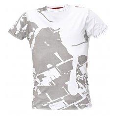 Pánske tričko s krátkym rukávom TIMARU, bielo-sivé
