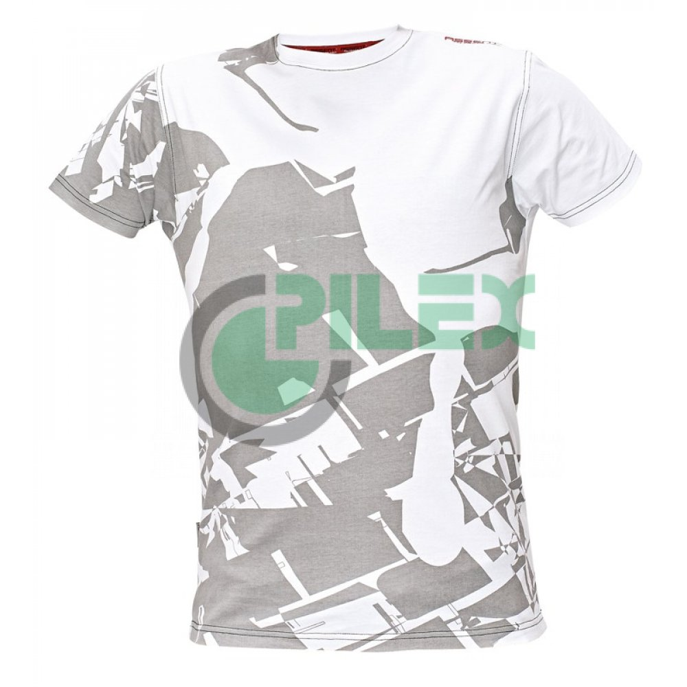86de9b1a7 Pánske tričko s krátkym rukávom TIMARU, bielo-sivé