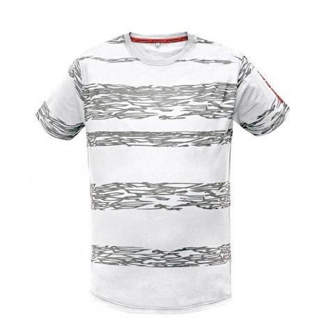 Pánske tričko s krátkym rukávom MILLER, bielo-sivé