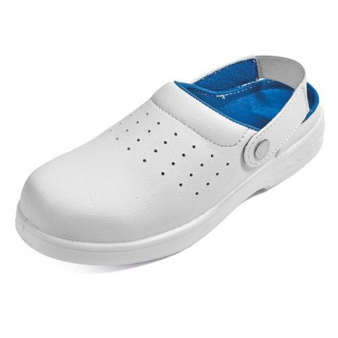 Sandále RAVEN WHITE SLIPPER OB, biele