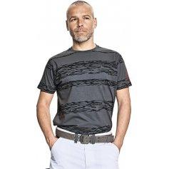 Pánske tričko s krátkym rukávom MILLER, sivo-čierne