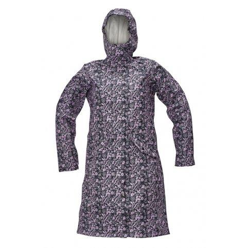 Dámsky plášť YOWIE, tm.modro-fialový, Farba modro-fialová, Veľkosť XXL