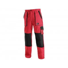 Pánske nohavice CXS LUXY JOSEF, červeno-čierne