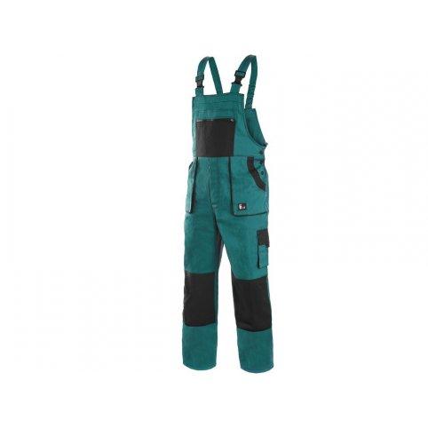 Pánske zimné nohavice na traky CXS LUXY MARTIN, zeleno čierne