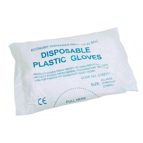 Jednorázové rukavice UNA, polyethylénové