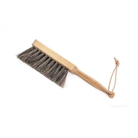 Zmeták drevený 13 cm, ručný, s prírodným vlasom