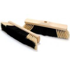 Zmeták drevený 40 cm, so závitom, jemný vlas