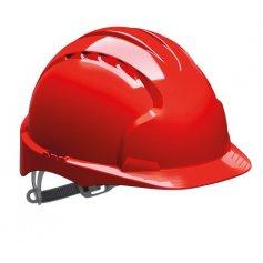 Bezpečnostná prilba EVO 3 JSP neventilovaná, červená