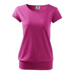 Dámske tričko s krátkym rukávom CITY, purpurové