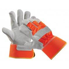 Kombinované rukavice CURLEW, reflexné-oranžové
