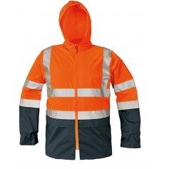 Reflexná nepremokavá bunda EPPING, oranžová