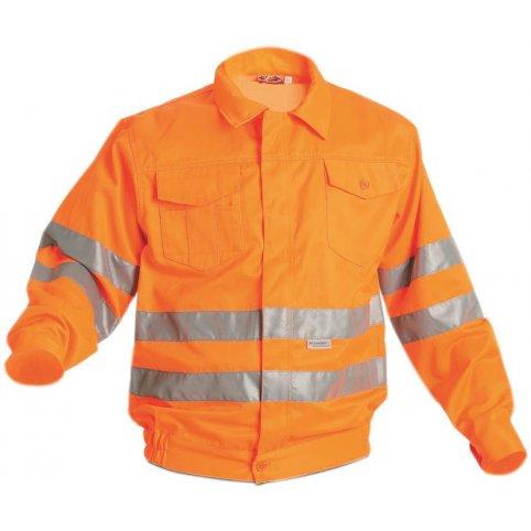 Monterková blúza KOROS s reflexnými pruhmi, oranžová