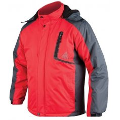 Pánska zimná bunda YORK, červeno-sivá