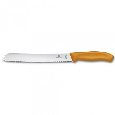 Nôž kuch. zúbkový na chlieb oranžový