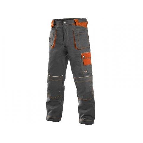 Pánske nohavice do pása ORION TEODOR, sivo-oranžové