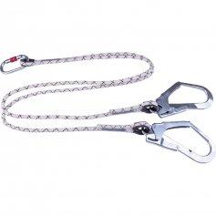 Spletané lano Y 1,5 m s 1 karabínou a 2 hákmi DeltaPlus LO147150CDD