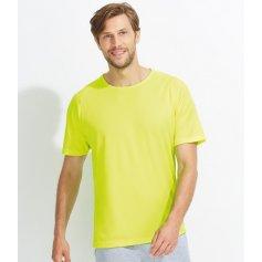 Pánske raglánové tričko SOLS 1939, neónovo žlté