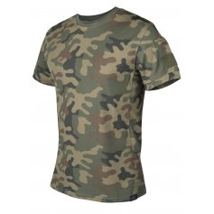 Tričko TACTICAL TOPCOOL PL Woodland, Helikon-Tex