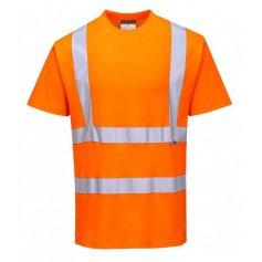 Tričko Hi-Vis s reflexnými pruhmi S170, oranžové
