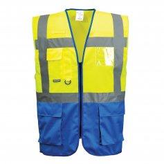 Reflexná vesta manažérska C476 Warssaw, žlto-sv.modrá