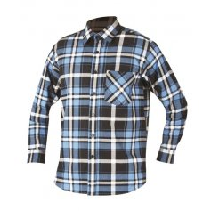 Pánska košeľa s dlhým rukávom JONAH, modro-čierna