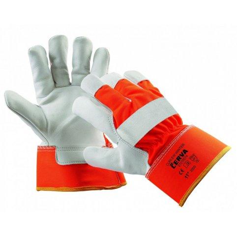 Kombinované zateplené rukavice CURLEW WINTER, oranžové