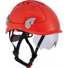 Prilba AlpinWorker s ventiláciou, červená