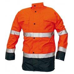 Zateplená bunda MALABAR 2 v 1 reflexná, oranžová