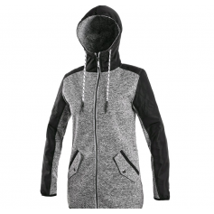 Dámska bunda CAPE, sivo-čierna