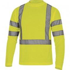 Reflexné tričko s dlhými rukávmi Star, žltá