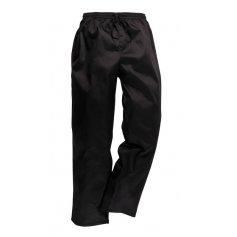 Kuchárske nohavice C070 na šnúrku, čierne