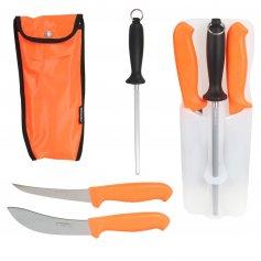 MORAKNIV Hunting Set 2x nôž + oslička, oranžová