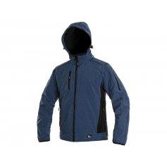 Pánska softshellová bunda DURHAM, modro-čierna