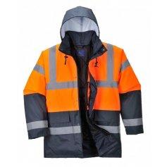 Pánska reflexná bunda S467 Hi-Vis, zimná, oranžovo-tm.modrá
