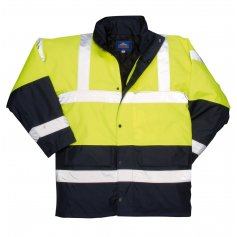 Reflexná zimná bunda Traffic Hi-Vis, žltá-tm.modrá