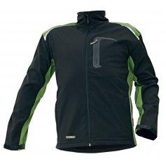 ALLYN softshellová bunda, čierno-zelená