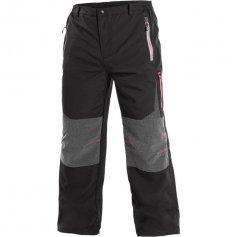 Pánske outdoorové nohavice MONTREAL, čierno-červené