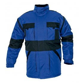 MAX zimná bunda 2 v 1 modro-čierna