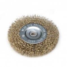 Brúsny kefový kotúč 100 mm, miskový, mosadzný