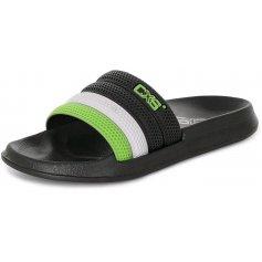 Šľapky GULF, čierno-zelené